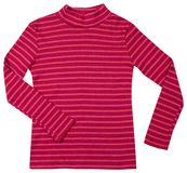 Red striped turtleneck. Isolated on white Stock Images