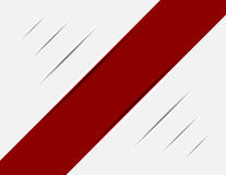 Red Striped on White Trace Stock Photo
