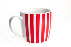 Red stripes cup Royalty Free Stock Photos