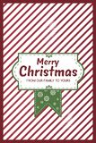 Red stripes and green CHristmas Card stock illustration