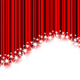 Red stripes and stars. On a white background Stock Photos
