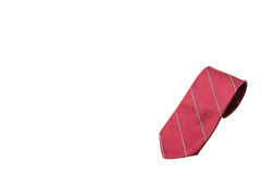 Red with strips business neck tie Stock Photo