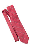 Red with strips business neck tie Royalty Free Stock Images