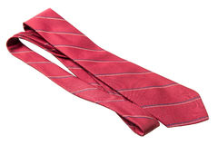 Red with strips business neck tie Stock Image