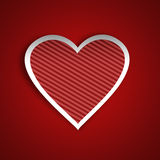 Red stripy heart Royalty Free Stock Photography
