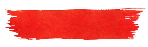 Red stroke of paint brush stock illustration