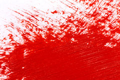 Red stroke of the paint brush Royalty Free Stock Images