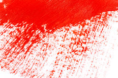 Red stroke of the paint brush Stock Photos