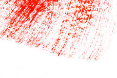 Red stroke of the paint brush Stock Photography
