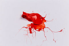 Red stroke of the paint brush Stock Images