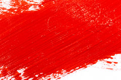 Red stroke of the paint brush Royalty Free Stock Photos