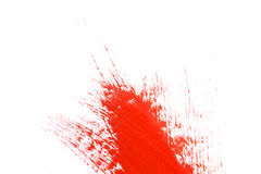 Red stroke of the paint brush Stock Photo