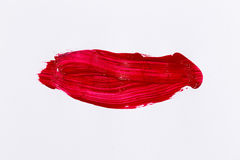 Red stroke of the paint brush Royalty Free Stock Photography