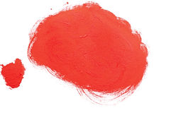 Red stroke of watercolor paint brush Royalty Free Stock Photos