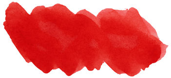 Red stroke of watercolor Royalty Free Stock Image