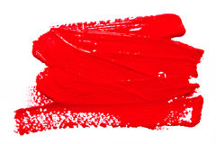 Red strokes of the paint brush isolated Stock Image