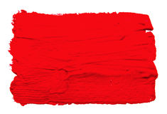 Red strokes of the paint brush isolated Royalty Free Stock Photos