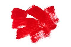 Red strokes of the paint brush vector illustration
