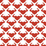 Red strong hearts seamless pattern Royalty Free Stock Image