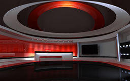 Red Studio Royalty Free Stock Photography