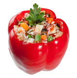 Red stuffed pepper Stock Photos
