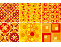 Red Style Pattern Royalty Free Stock Images