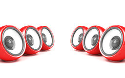 Red stylish audio system Stock Photography
