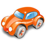 Red Stylish Car over white. Funny and Unreal design of red stylish car. Object over white royalty free illustration