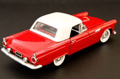 Red stylish classic muscle car. Picture of a red beautiful classic muscle car Stock Photo