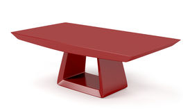 Red stylish coffee table. On white background Stock Photos