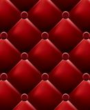 Red stylish fabric with knobs Royalty Free Stock Images