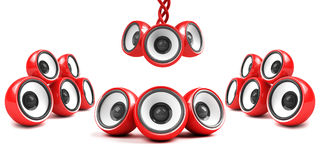 Red stylish futuristic audio system Royalty Free Stock Photos