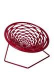 Red stylish modern garden chair Royalty Free Stock Photo