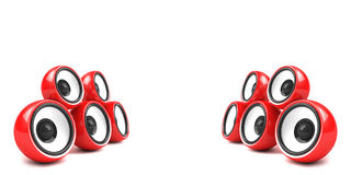 Red stylish stereo system Stock Images