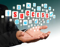 Red success alphabet streaming images Royalty Free Stock Photography