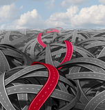 Red Success Path Stock Images