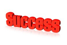 Red success sign Stock Photography