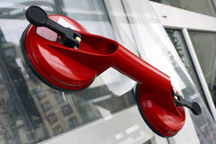 Red sucker for glass transportation Stock Photos