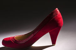 Red Suede Pumps #2 Royalty Free Stock Photo