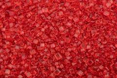 Red Sugar Close Up. Medium Macro Shot Stock Images