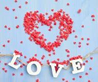 Red sugar hearts Royalty Free Stock Photography