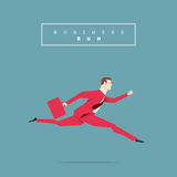 Red Suit Businessman Pose Royalty Free Stock Image