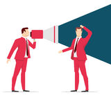 Red suit businessman Stock Image