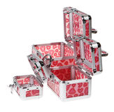 Red suitcase. On the white background. (isolated royalty free stock photos
