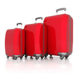 Red suitcase Royalty Free Stock Photos