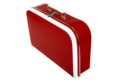 Red suitcase Stock Images