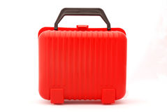Red suitcase Stock Photos