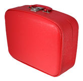 Red Suitcase. Vintage Red Travel Case - angle view royalty free stock images