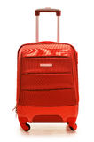 Red suitcase isolated on white Royalty Free Stock Images