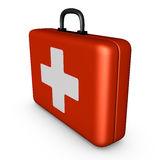 Red suitcase Royalty Free Stock Photo
